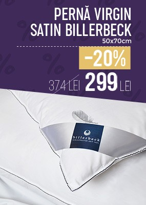 Perna Virgin Satin puf si pana Billerbeck - 50x70cm